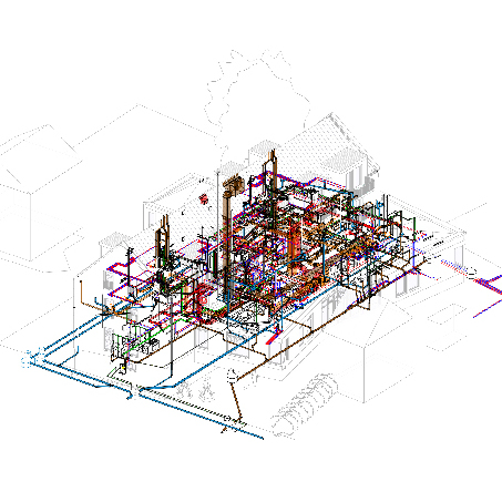 Digitales Gebäudemodell Thearapiezentrum ASB Neustadt