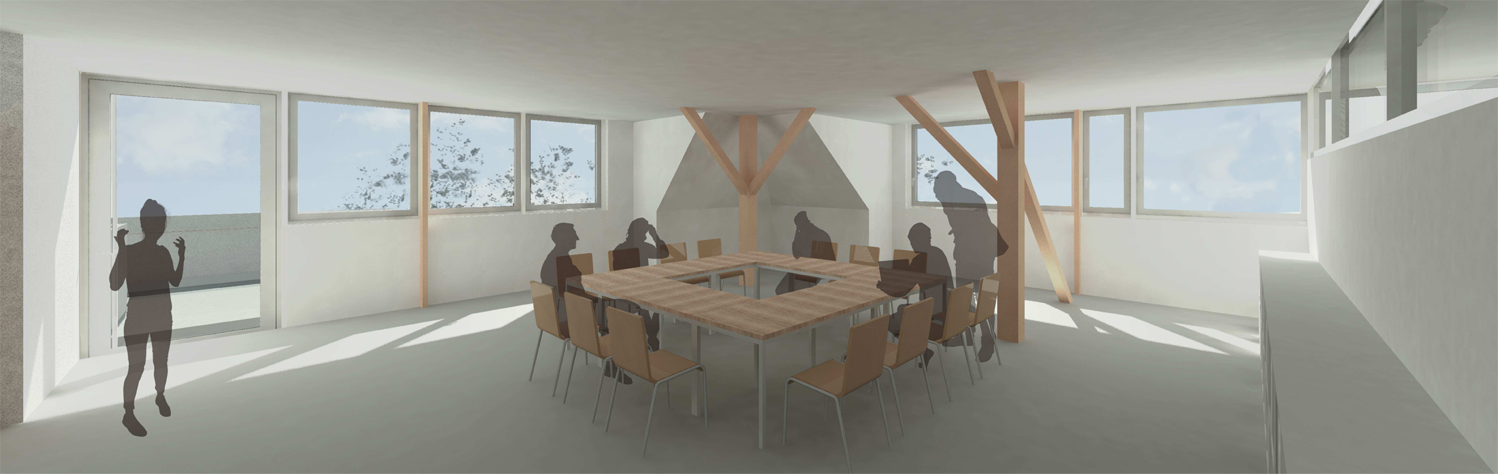 17-08 Ev. Schule Hochkirch_Perspektive Projektraum